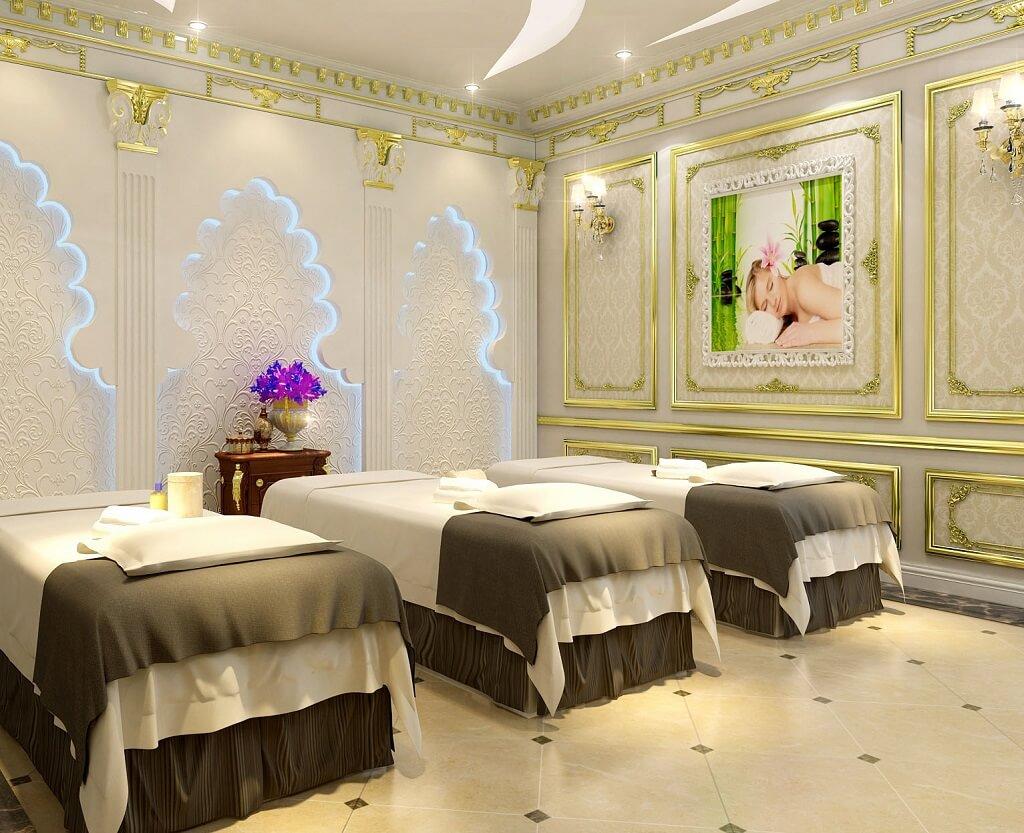 Thiết kế 1 góc phòng spa milan theo phong cách tân cổ điển