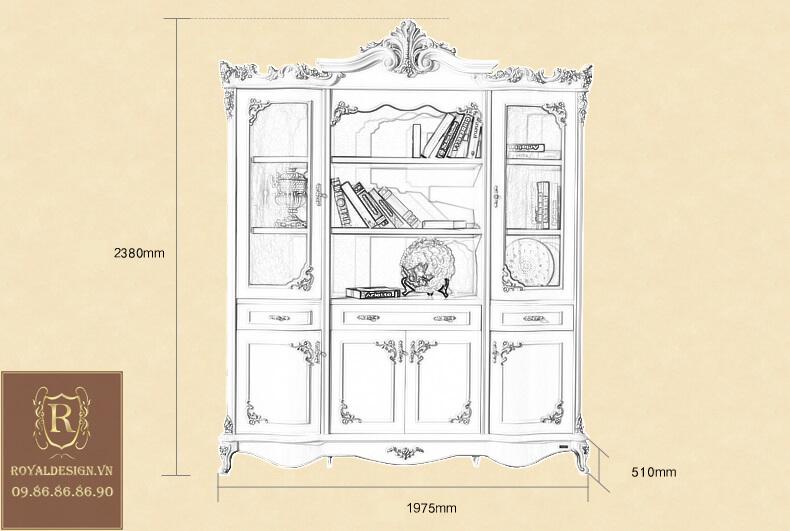 Tủ Văn Phòng Tân Cổ Điển 003-19