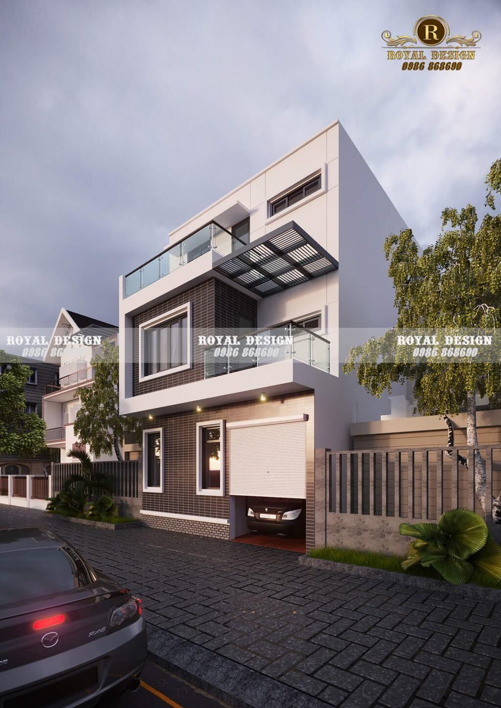 Biệt thự nhà phố 3 tầng hiện đại