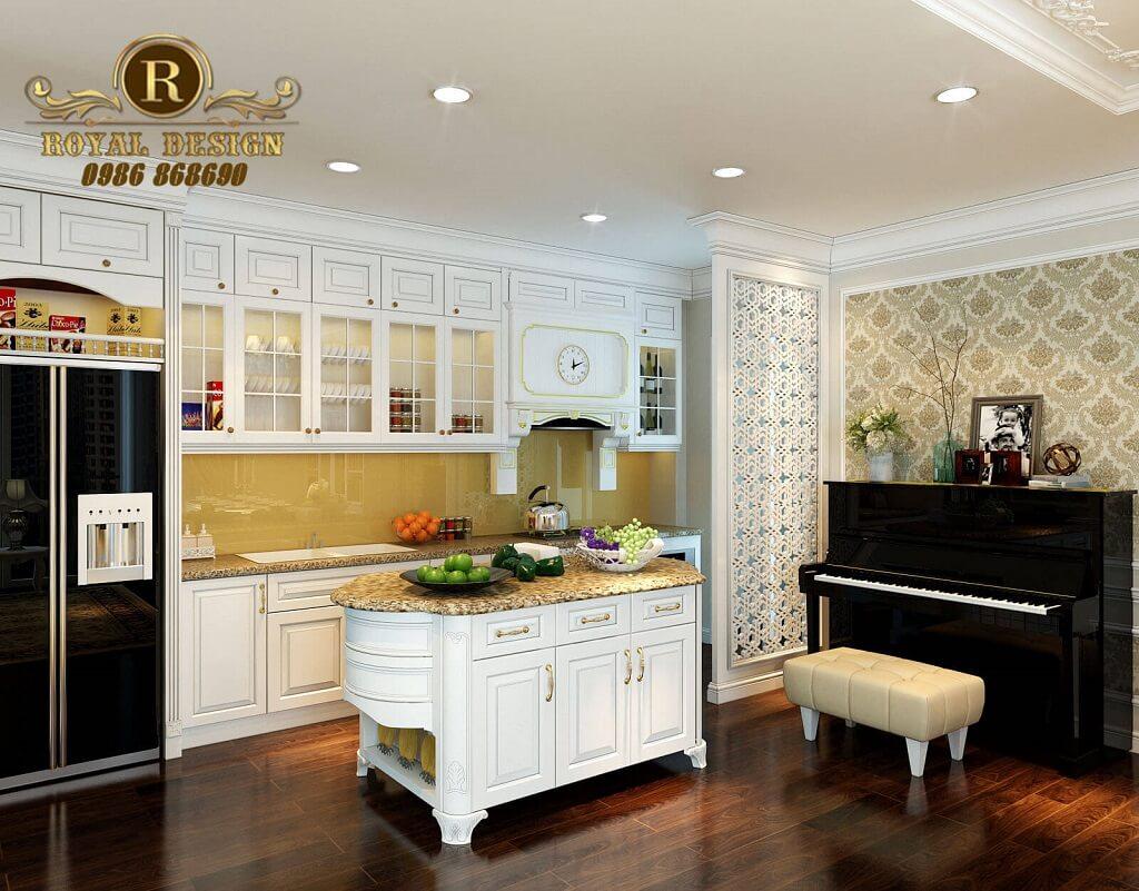 Thiết kế phòng bếp ăn tân cổ điển