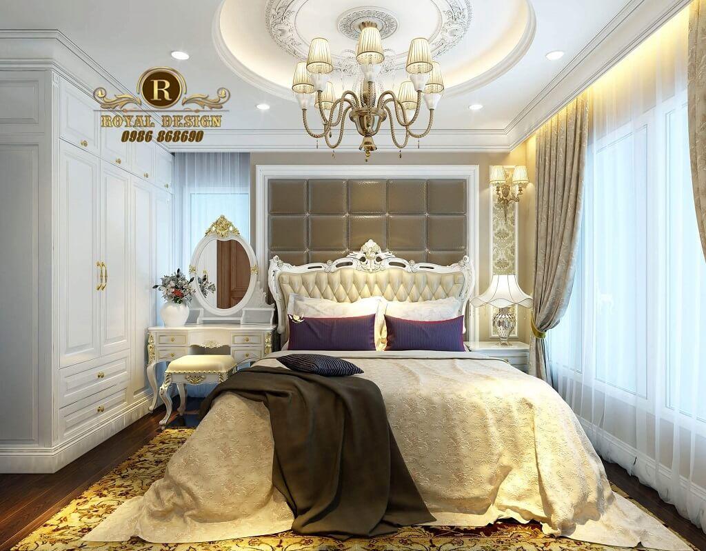 Thiết kế nội thất phòng ngủ tân cổ điển