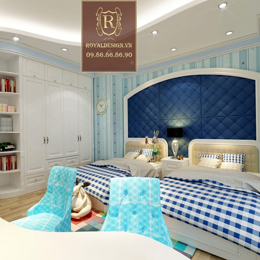 Phòng ngủ bé trai cổ điển