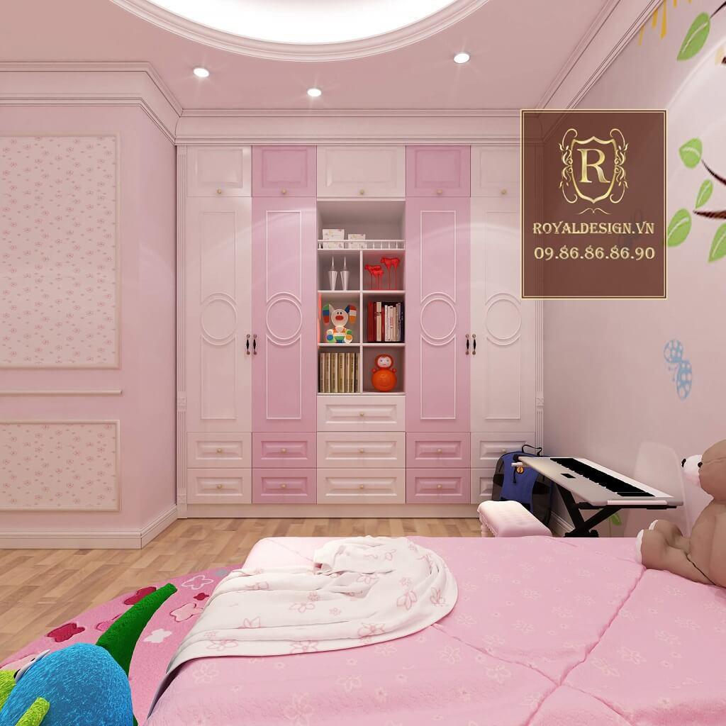 Nội thất phòng ngủ bé gái cổ điển