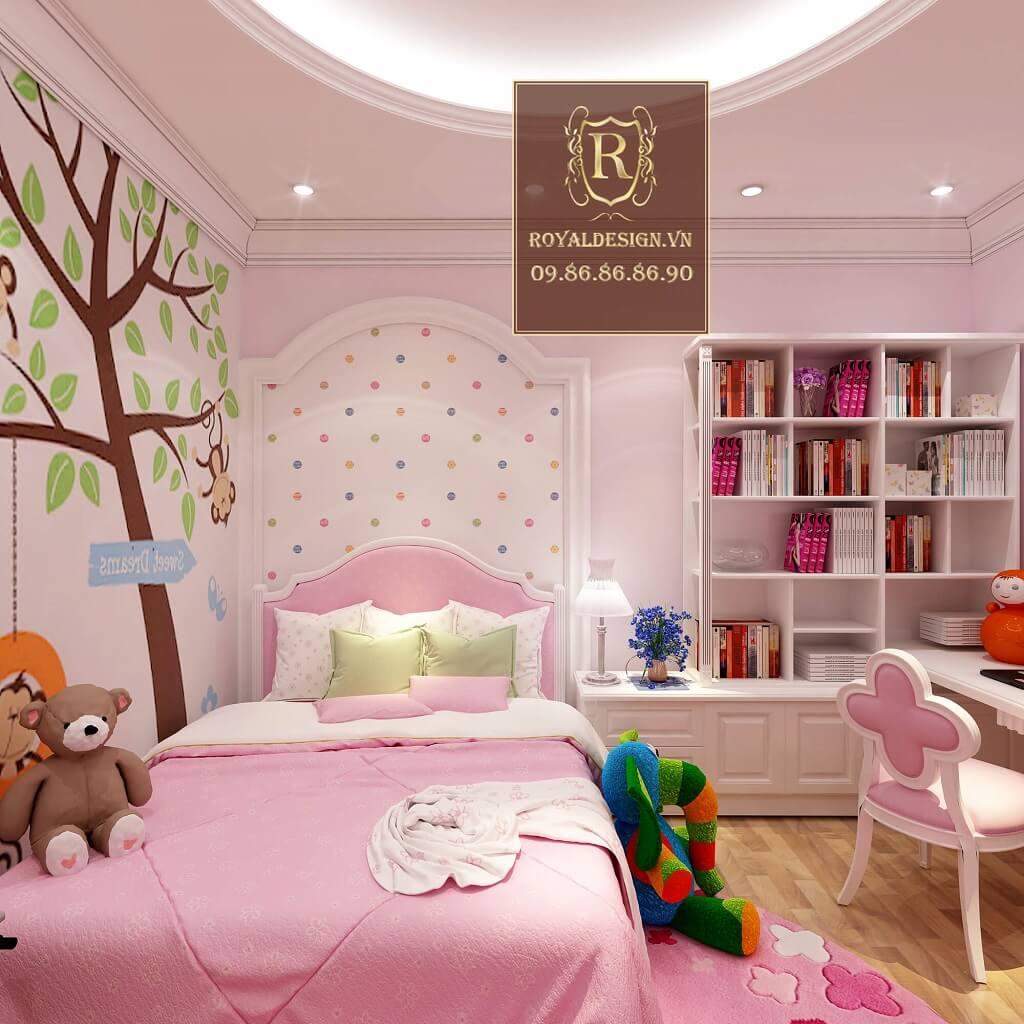 Thiết kế nội thất phòng ngủ bé gái