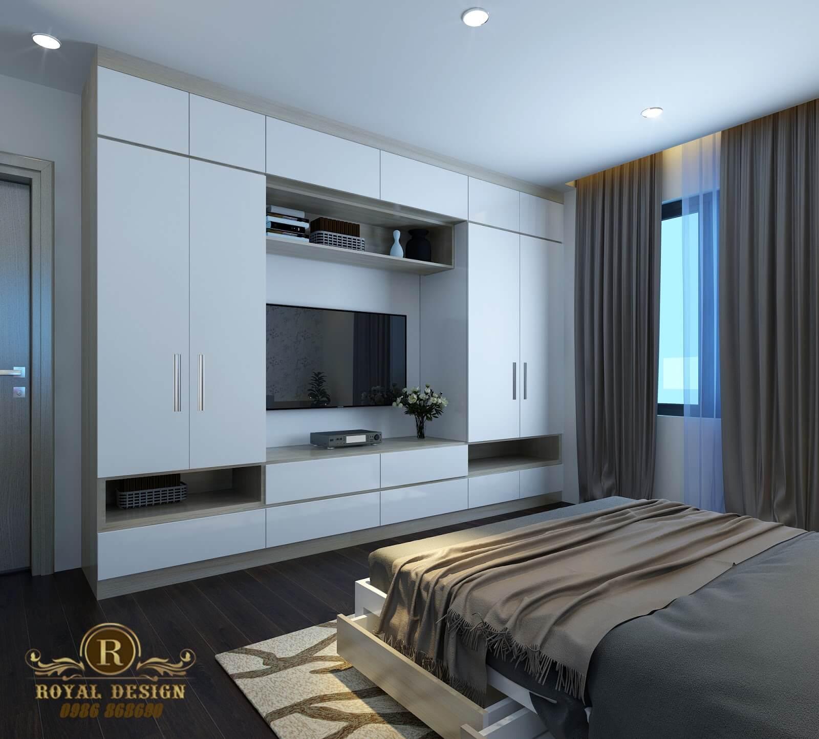 Phòng ngủ hiện đại gam màu trung tính 03