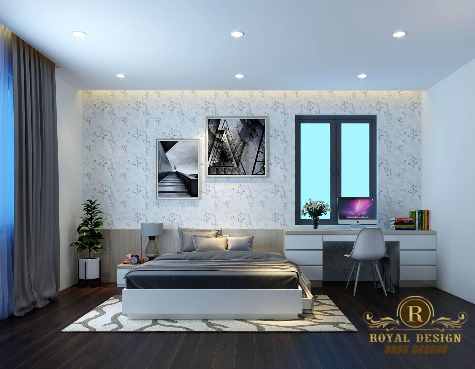 Phòng ngủ hiện đại gam màu trung tính 02