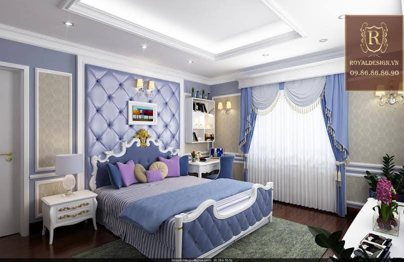 Royal Design thiết kế phòng ngủ con trai tân cổ điển 02