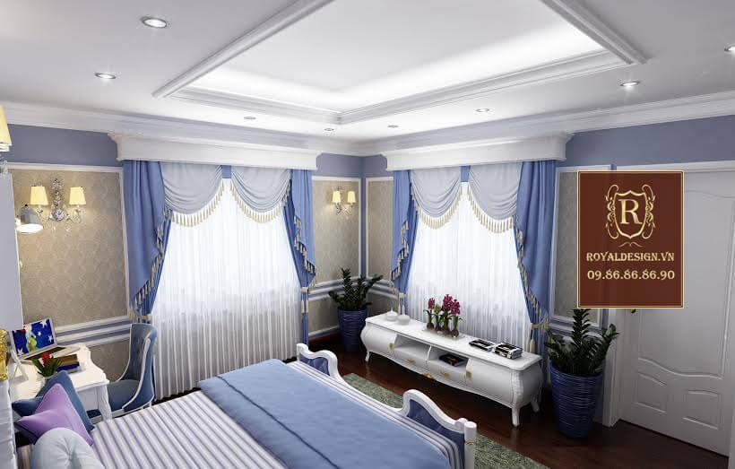 Royal Design thiết kế phòng ngủ con trai tân cổ điển 01