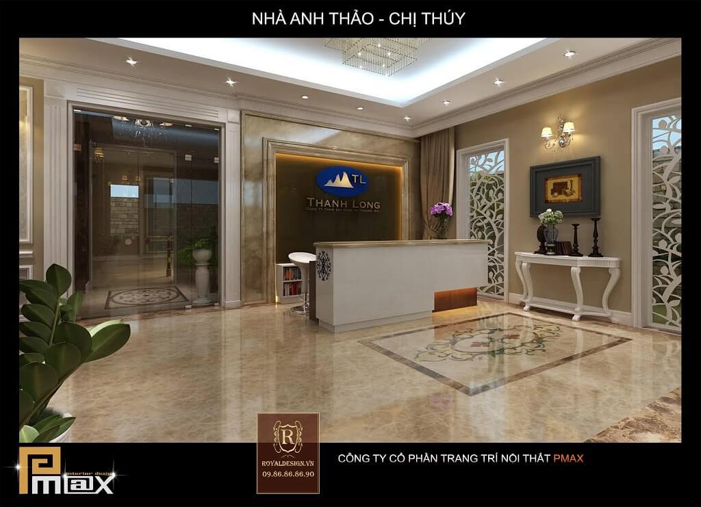 Thiết kế nội thất lễ tân khách sạn
