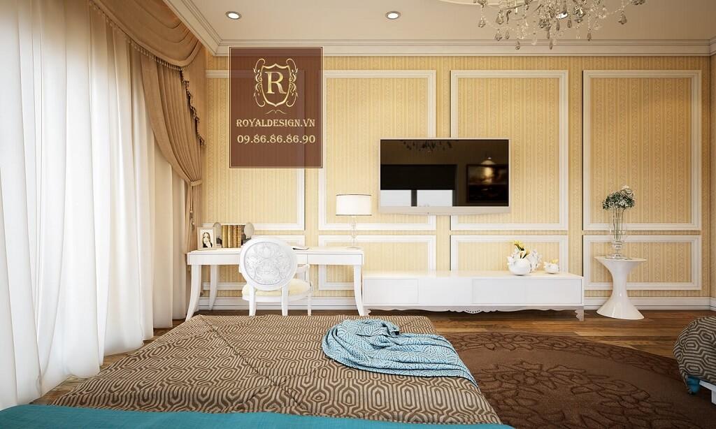 Thiết kế nội thất phòng ngủ đôi tân cổ điển 2