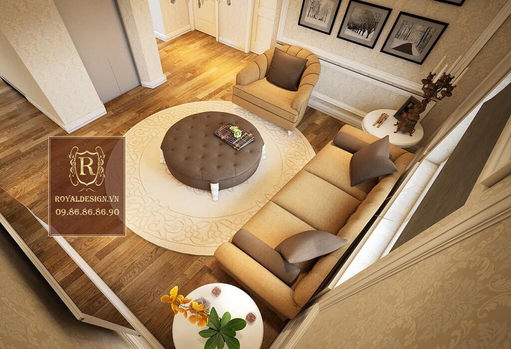 Sofa sử dụng bộ châu âu đơn giản nỉ da bò 1
