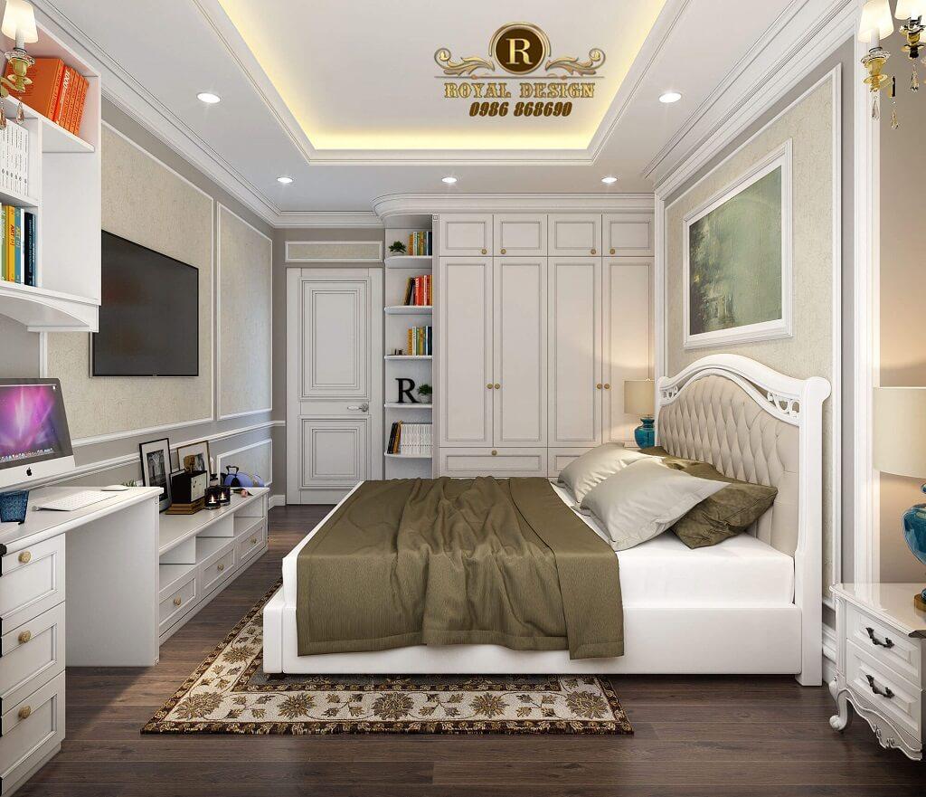 Nội thất phòng ngủ màu trắng