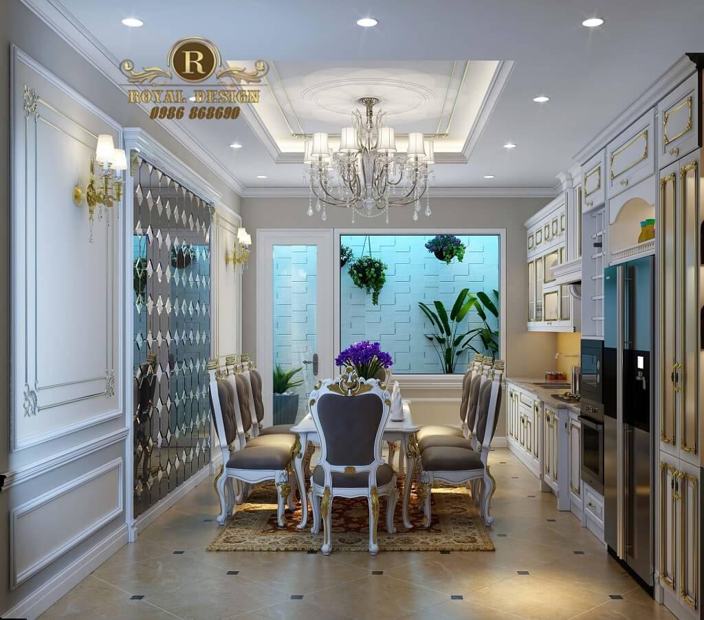 nội thất phòng ăn biệt thự