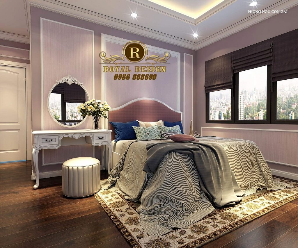 Phòng ngủ con gái nhẹ nhàng