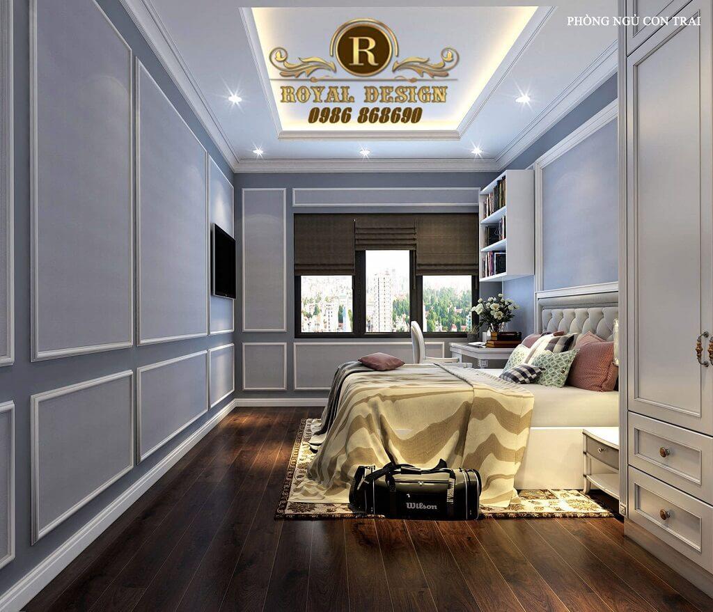 Phòng ngủ con trai đơn giản nhẹ nhàng
