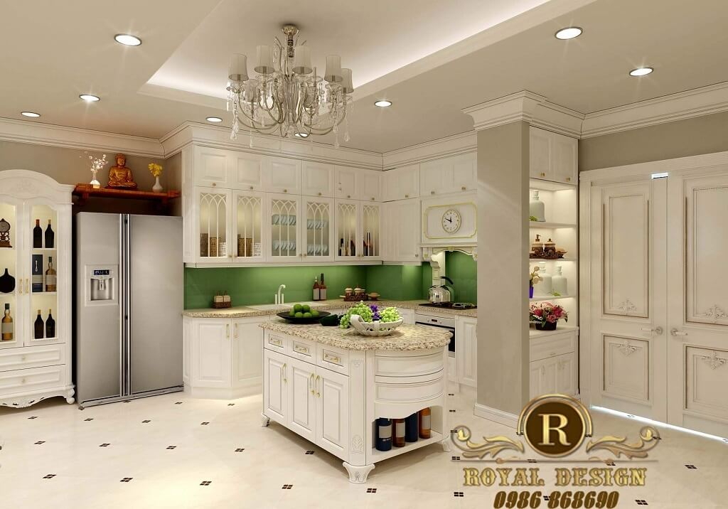 thiết kế khu bếp của căn hộ 100m2 thuộc dự án usilk