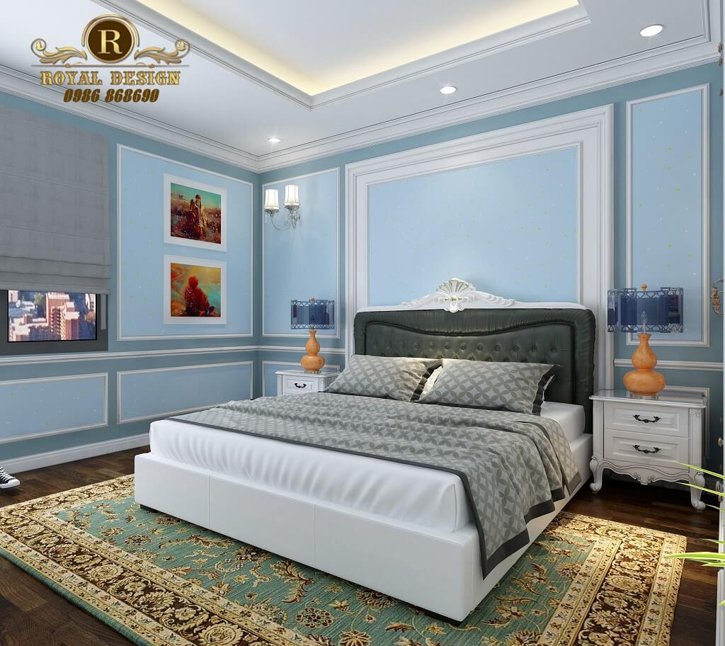 Thiết kế nội thất phòng ngủ bé trai tân cổ điển châu âu