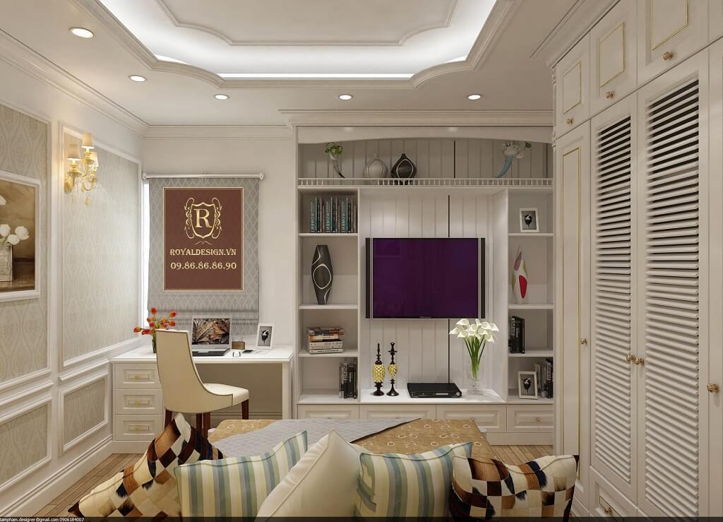 trang trí nội thất phòng ngủ con trai lớn