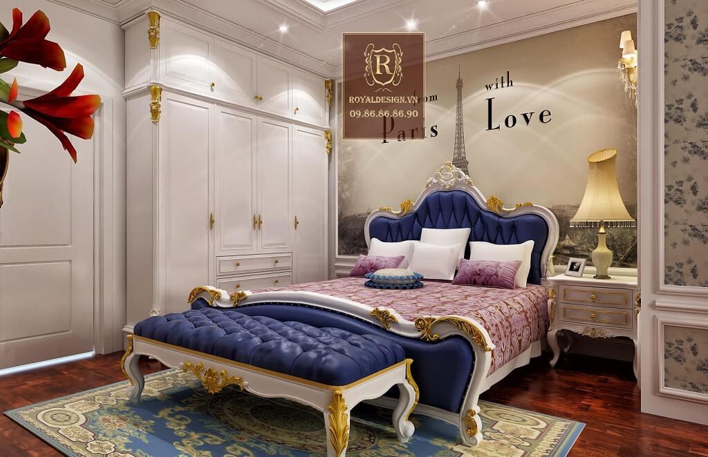 thiết kế phòng ngủ tân cổ điển 12m2