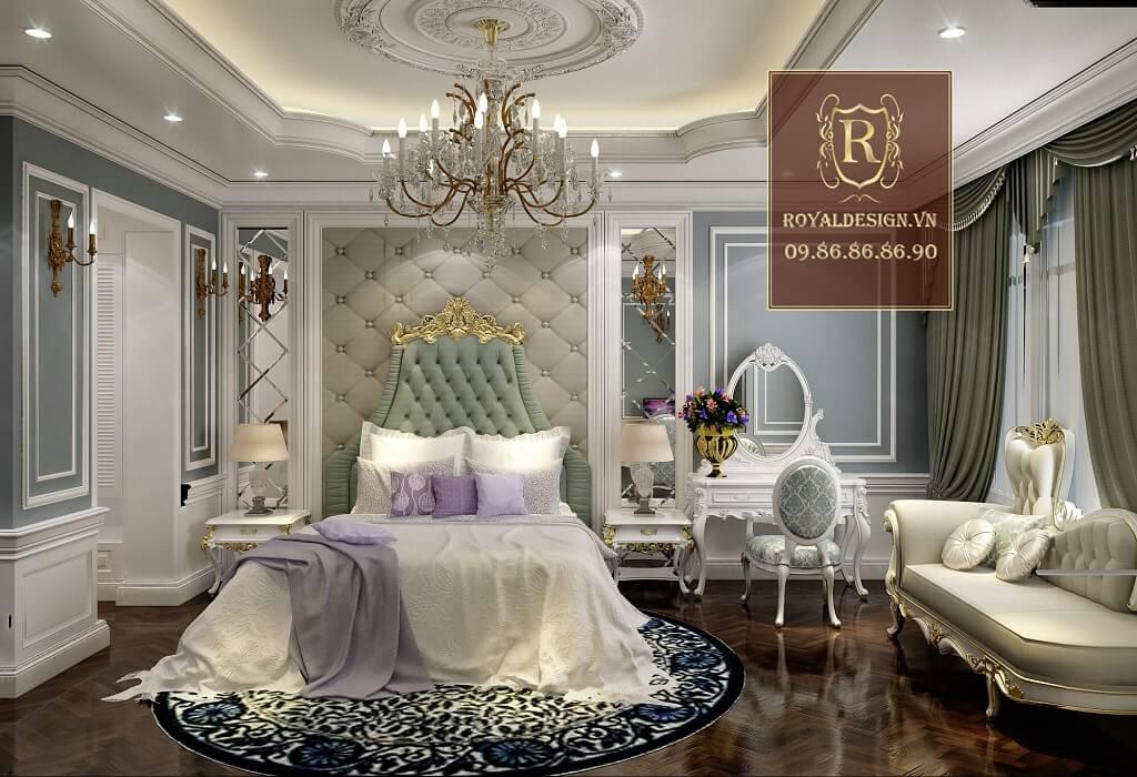 Mẫu phòng ngủ master phong cách tân cổ điển