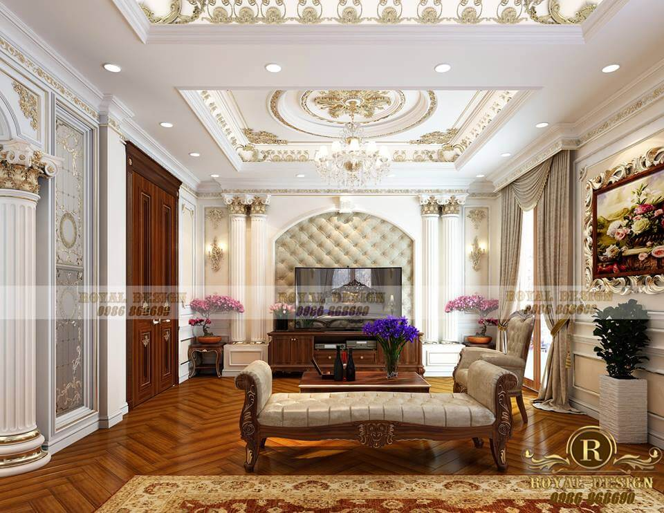 Review nội thất phòng ngủ master tân cổ điển