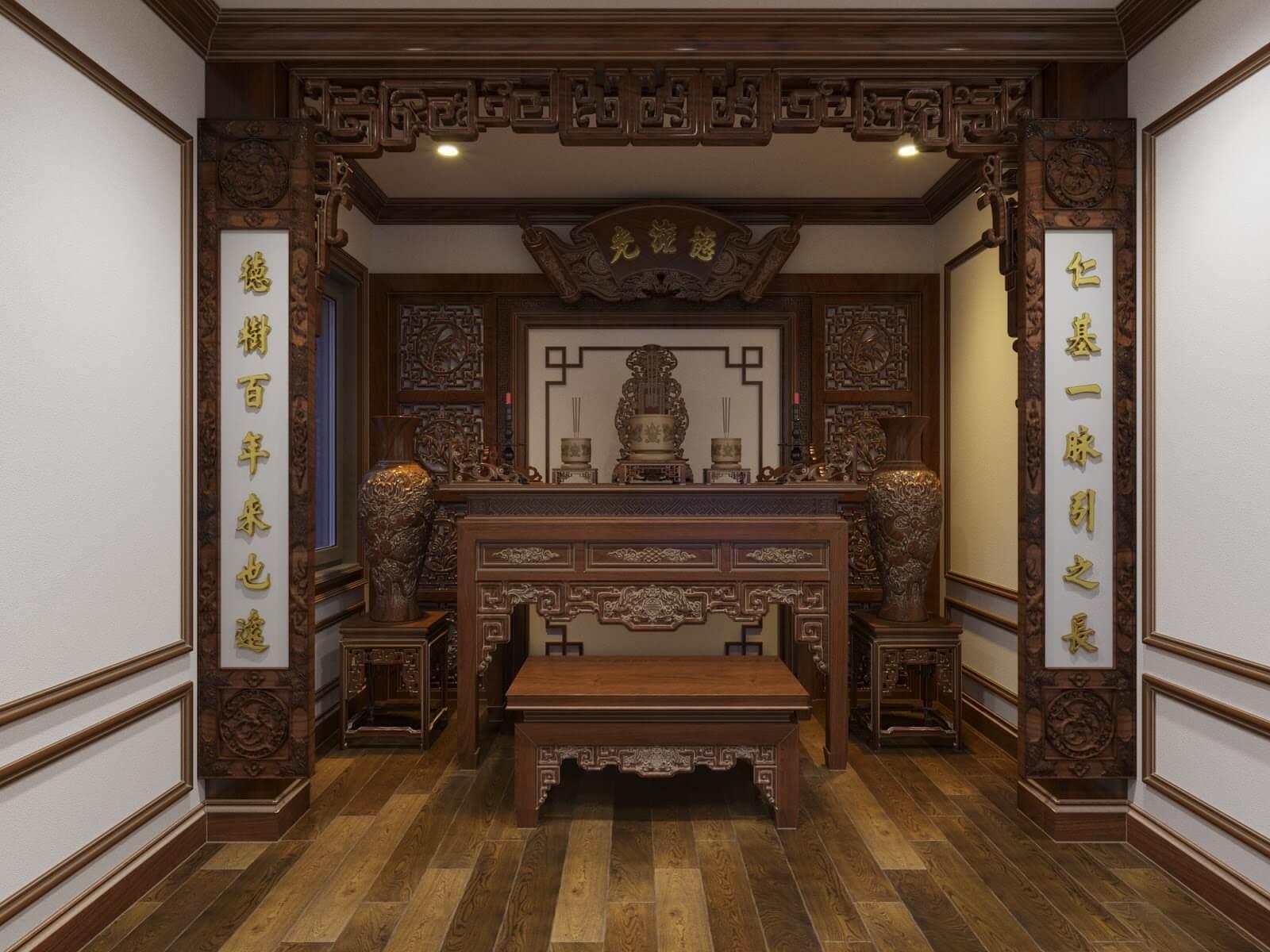 Phòng thờ gia tiên cổ điển