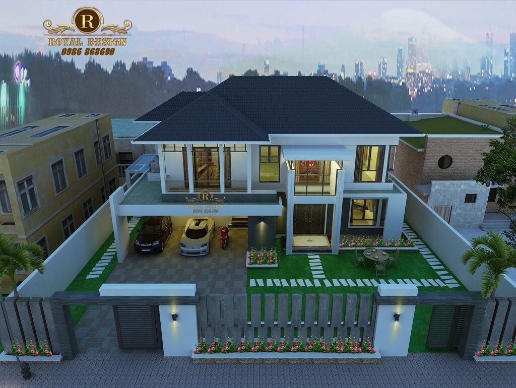 Mẫu thiết kế Biệt thự 2 tầng mái Thái 2