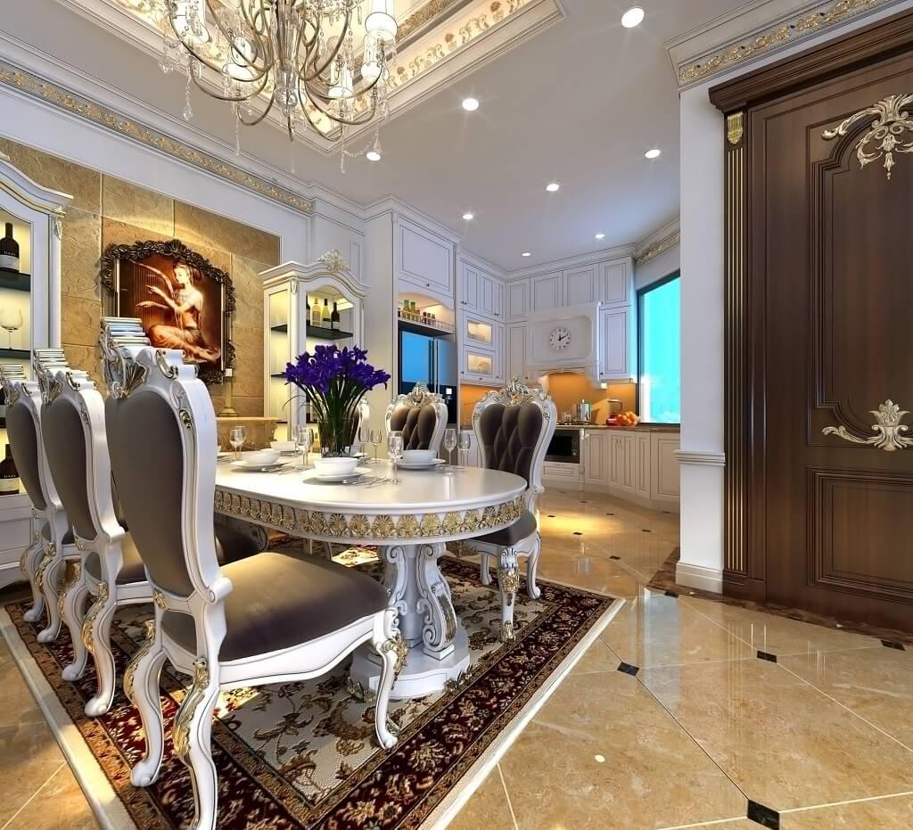 nội thất phòng ăn cổ điển