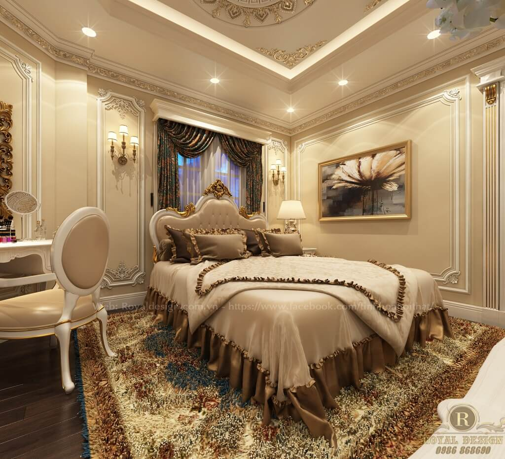 nội thất phòng ngủ phong cách tân cổ điển
