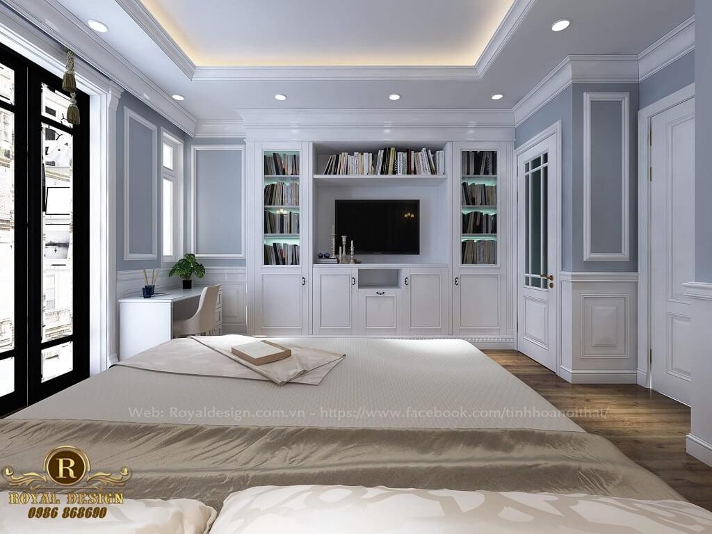 Nội thất phòng ngủ con trai tân cổ điển Vinhome Thăng Long