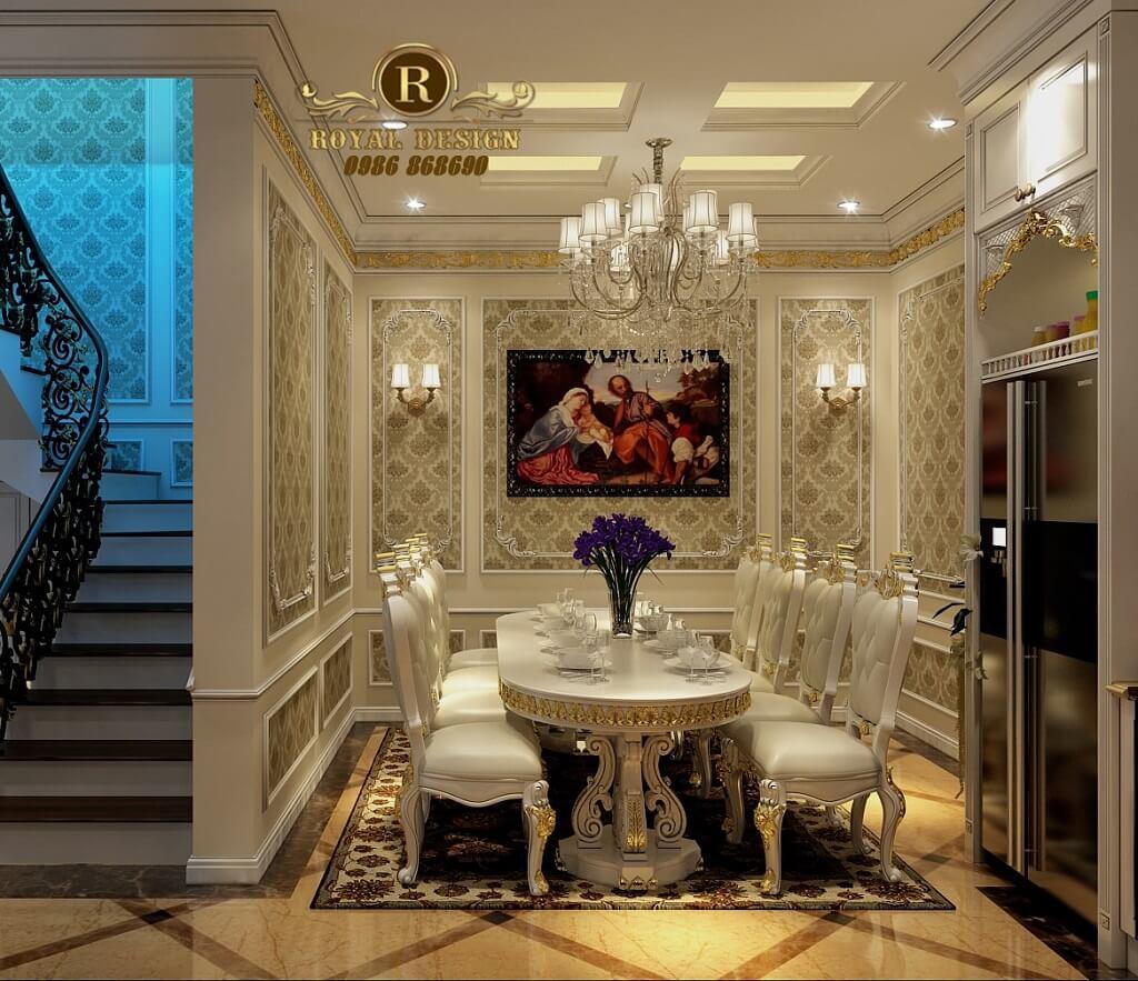 nội thất phòng ăn tân cổ điển