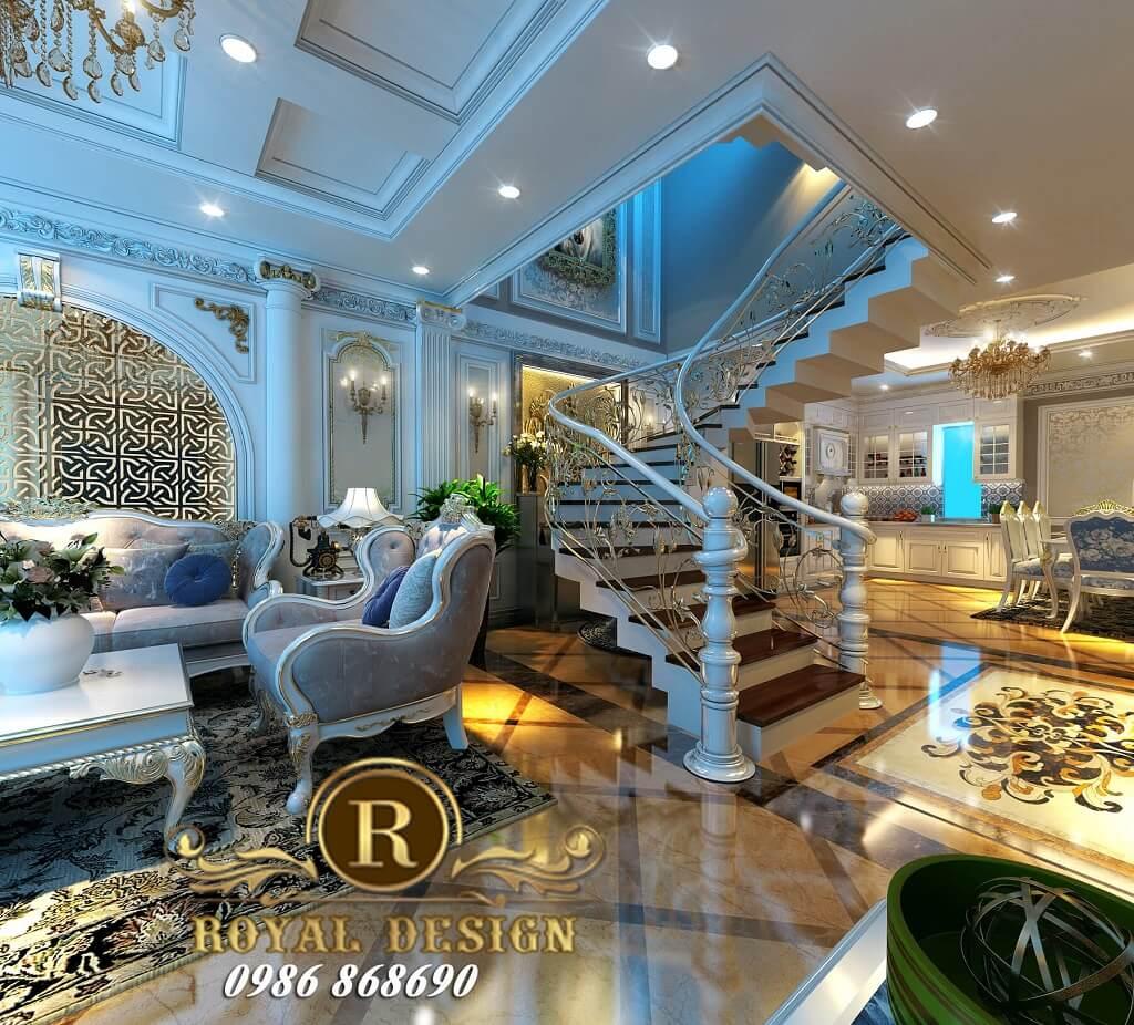 Thiết kế phòng khách tân cổ điển