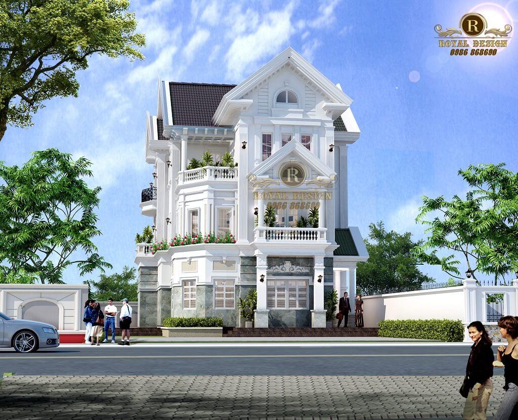 Phối cảnh 3D căn biệt thự 3 tầng nhà Anh Long - Chị Nguyệt